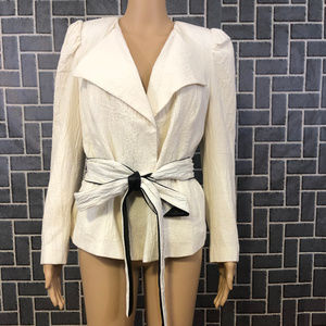 WHO WHAT WEAR WMS SZ SMALL IVORY JACKET NWT